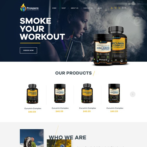 Website Design for a Supplements' company