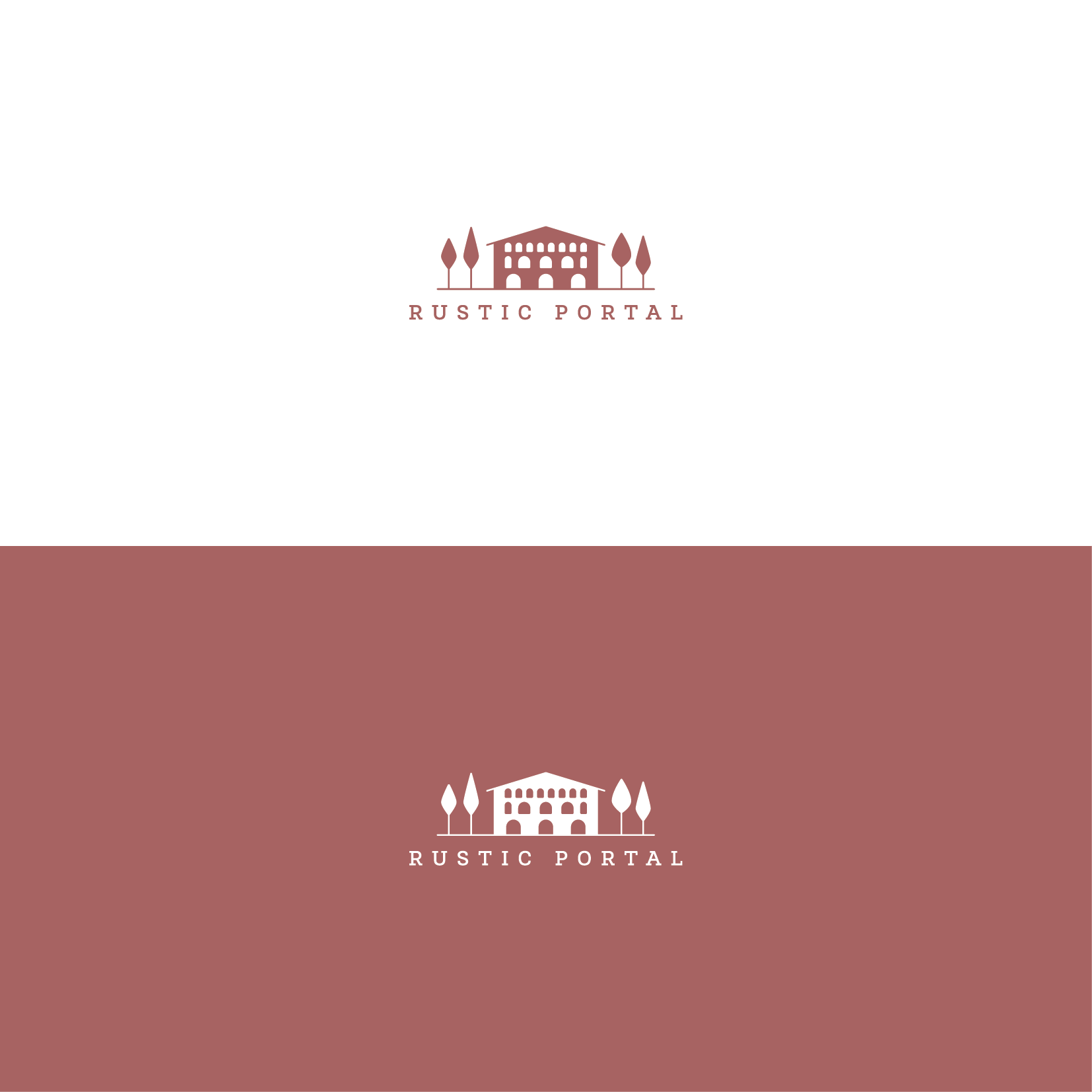 logo to communicate the elegance of tradional countryhouses in spain in a modern manner