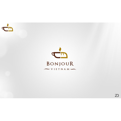 "logo for ""bonjour vietnam"" Logo design for a specialty sandwich and coffee shop"