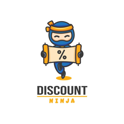 Bold and Playful Logo for Discount Ninja