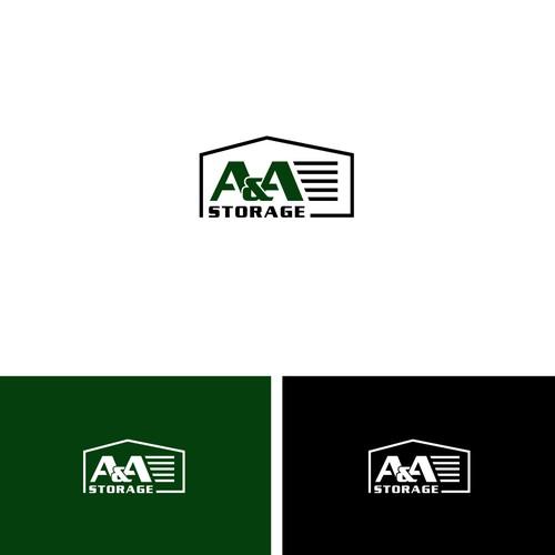 Bold logo concept for A & A Storage