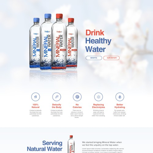 Need website for bottled Mineral Water