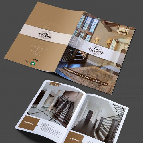 Brochure for Woodworking Company