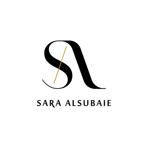 Luxury, artistic, classic with a modern feel logo concept for Sara Alsubaie.