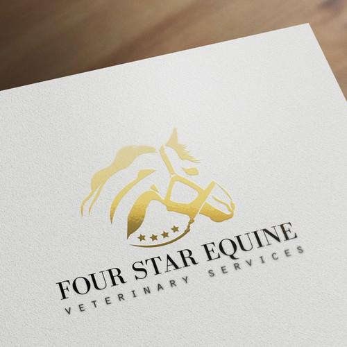 New logo for equine veterinary practice.
