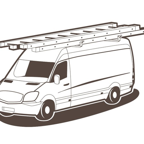 Repair truck one color vector illustration