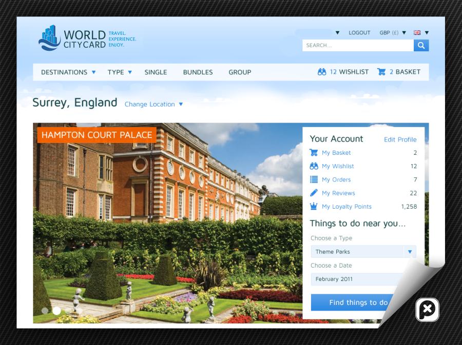 Clean, Fresh, Modern Logo for www.worldcitycard.com
