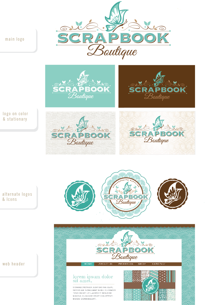Help Scrapbook Boutique with a new logo