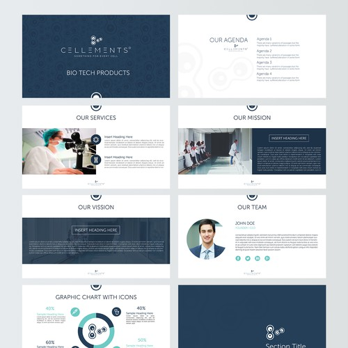 Powerpoint Template for Cellements