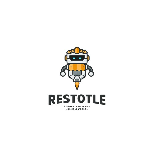 Greek restaurant robot.