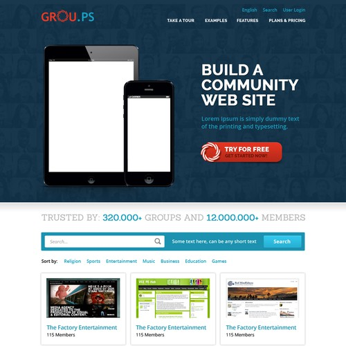 GROU.PS Homepage Redesign
