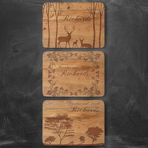 Cutting Boards Engraving Design Concept