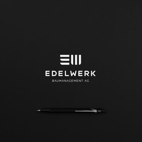 Minimalist Architecture Logo for Edelwerk AG ev. (GmbH)