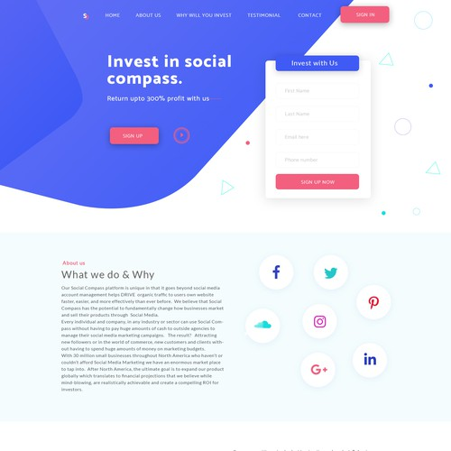 Social Compass - Funding page