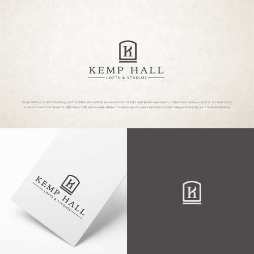Logo and website for the Kemp Hall