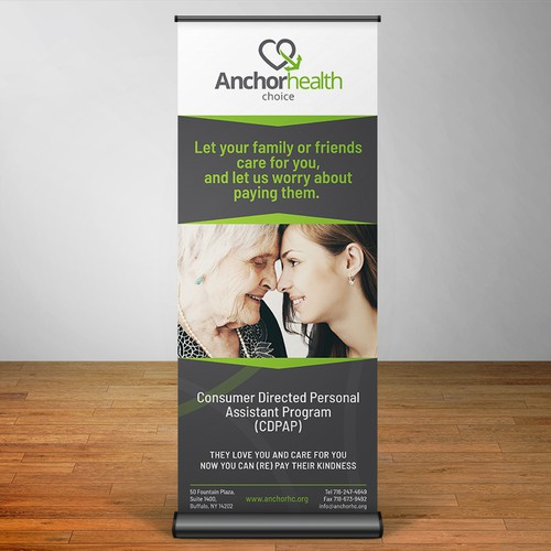 Pull Up Banner, Anchor Health