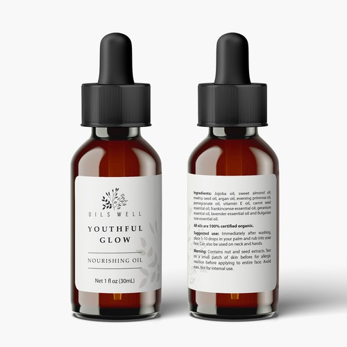 Product label concept for a natural skin product