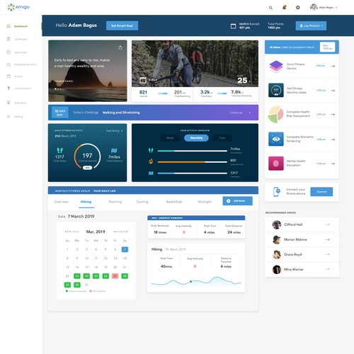 Training Amigo Dashboard Design