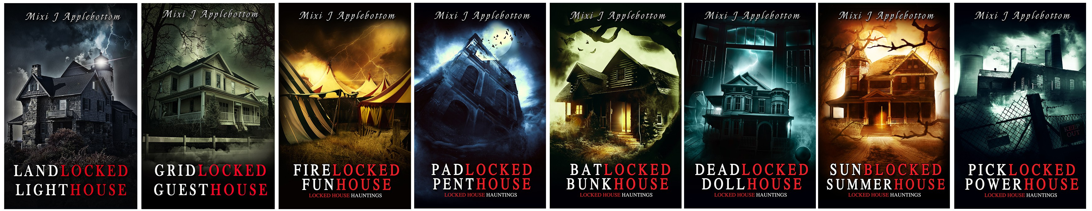 4 Locked House book covers