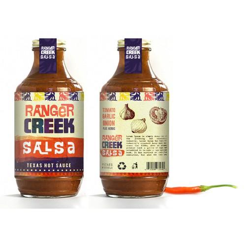 Ranger Creek Salsa Label Design