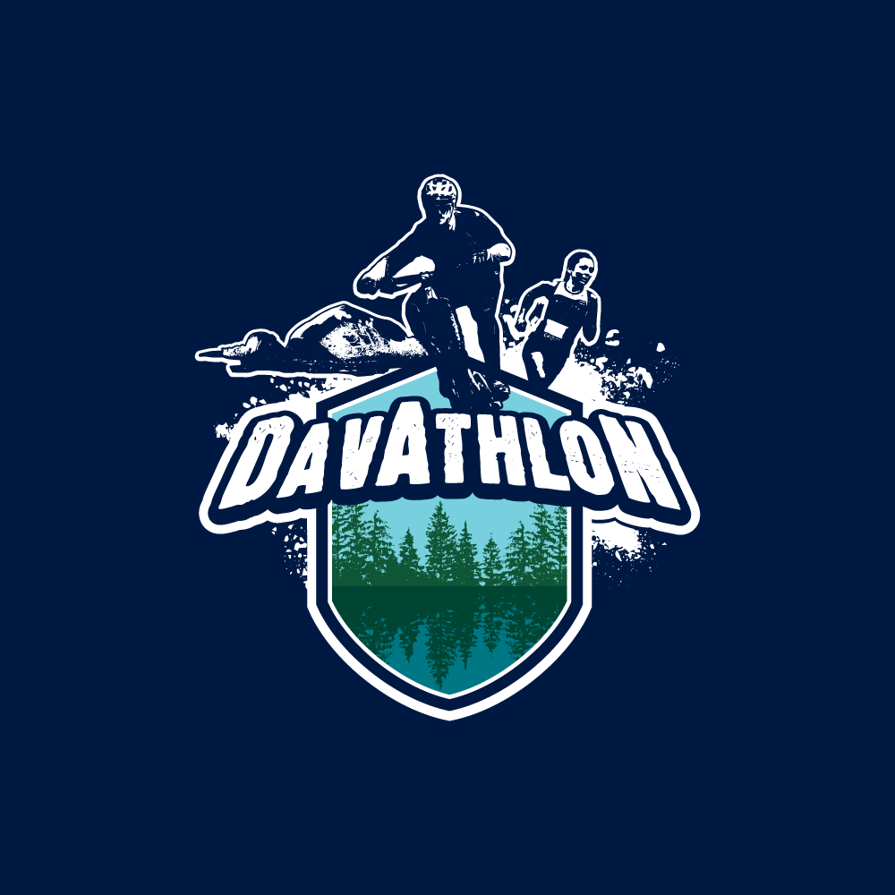 Design a cool logo for an off-road Triathlon in Squamish bc, the mecca of mountain biking.