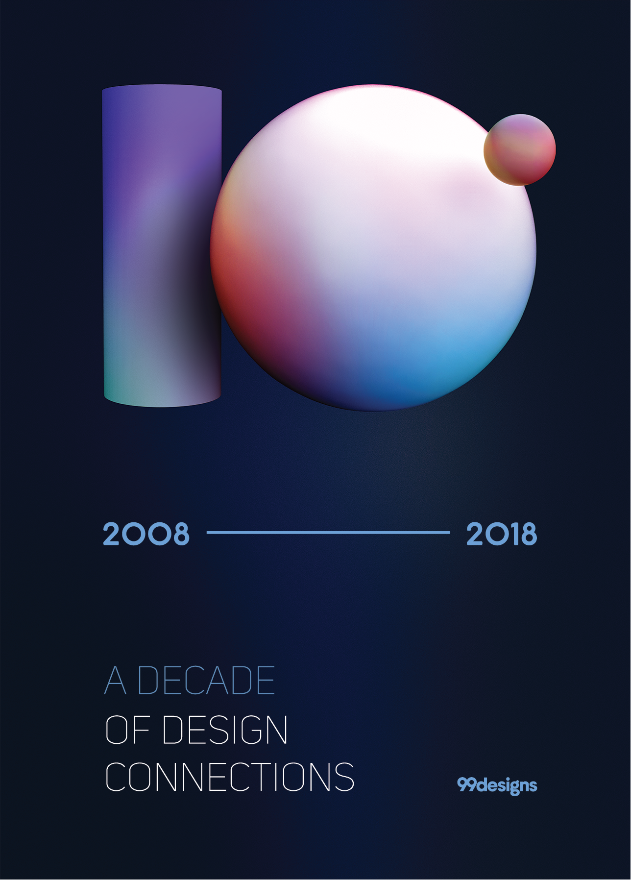 Poster design for 99designs 10 years anniversary