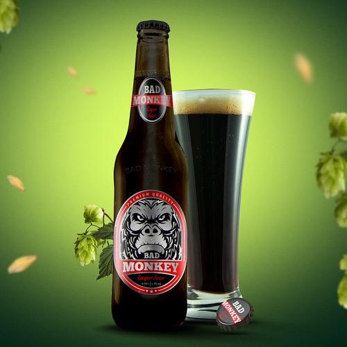 Label for beer Bad Monkey