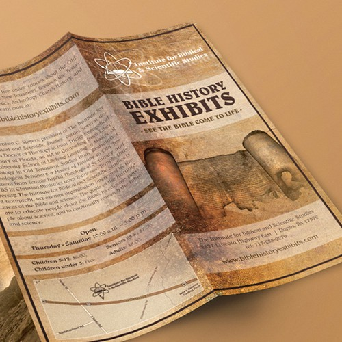 Bible History Exhibits Museum Brochure