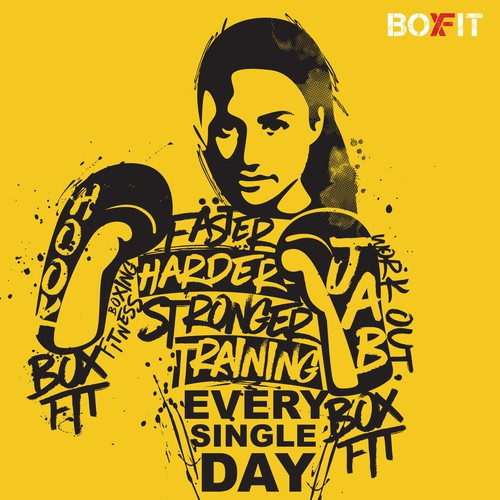 "fun and energetic fitness boxing brand called ""BoxFit"""
