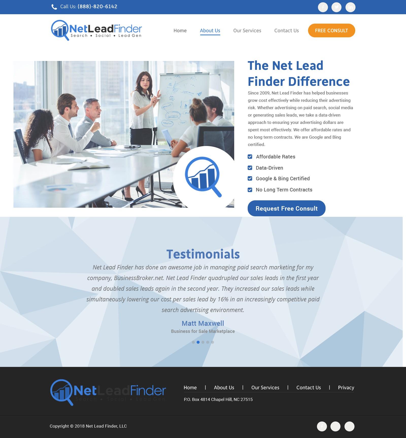 Create a New Website Design for Internet Marketing Company