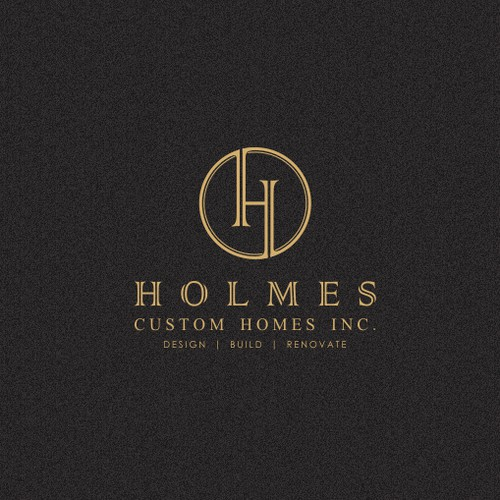 Sophisticated logo design for Holmes Custom Homes Inc.