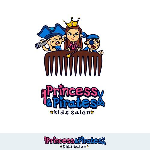Logo for a kids salon