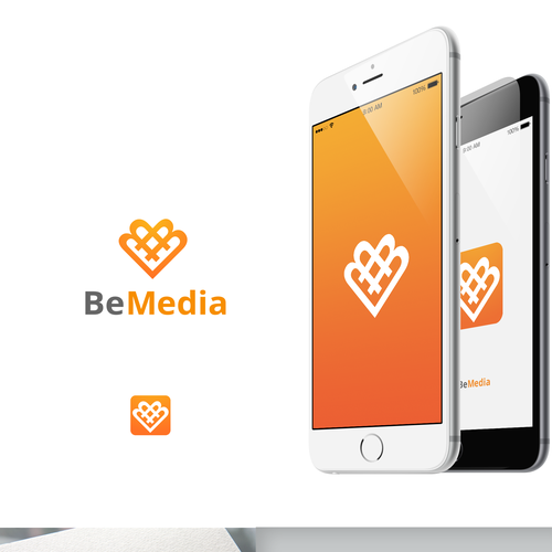 hashtag integrated icon for be media