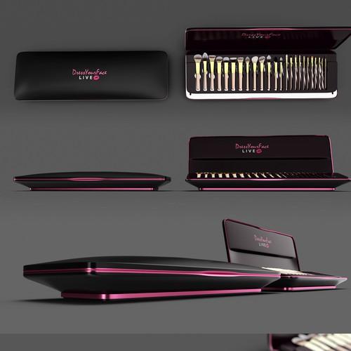 Packaging design for the brush set
