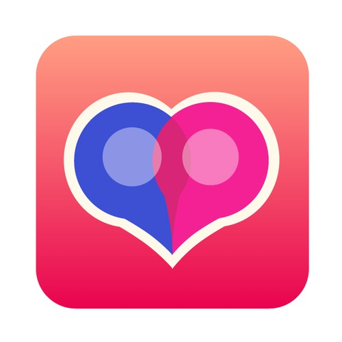 Logo for a geotargeting dating mobile app