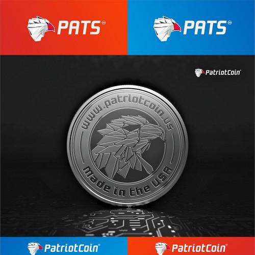 Logo Design - PatriotCoin - Cryptocoin