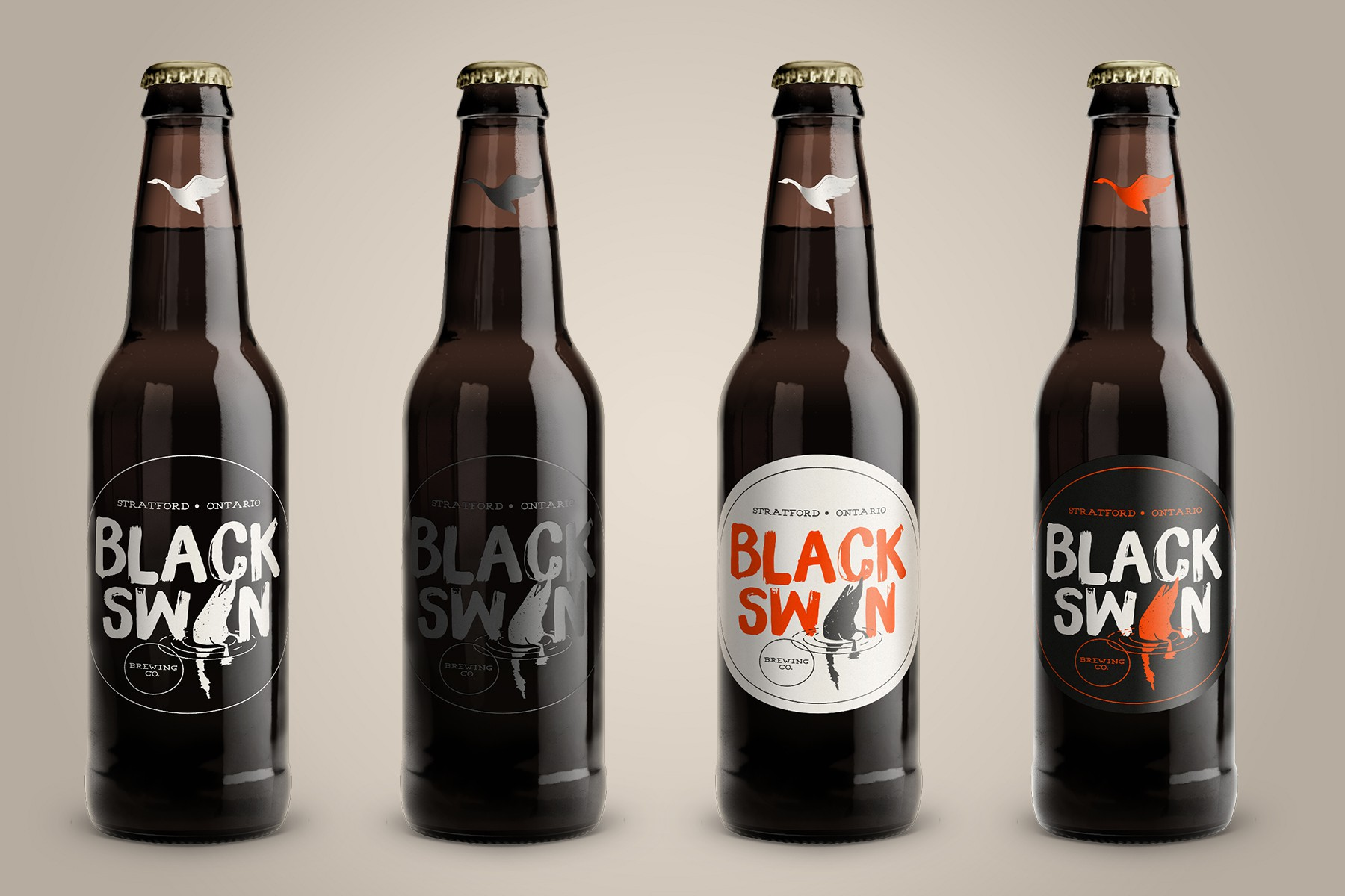 Black Swan Brewing Company - looking for a fun and upscale label for an arts and culture and culinary rich community