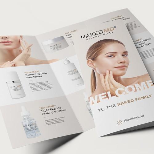 Slick, Skincare Trifold Brochure Design