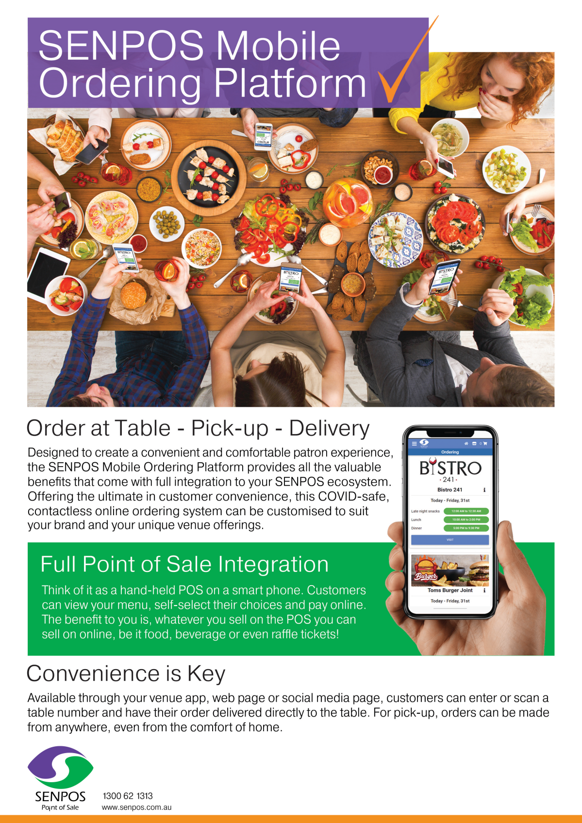 creating a two page A4  flyer for online ordering platform