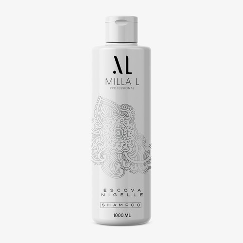 Shampoo label design