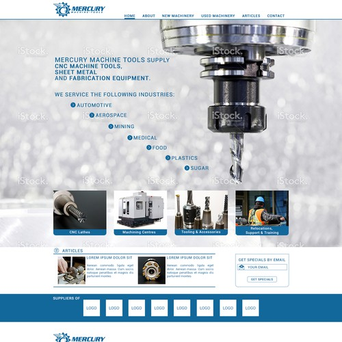 Industrial landing page