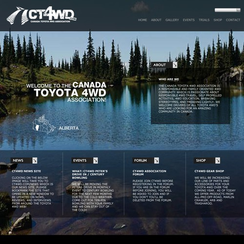 Canada Toyota 4WD Association needs a new website design