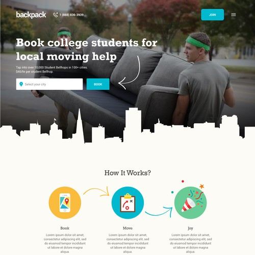 Backpack home page