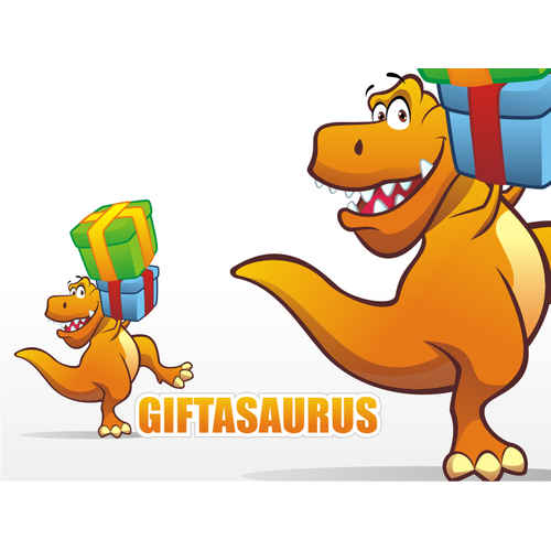 Fun Dinosaur & Logo for Giftasaurus!