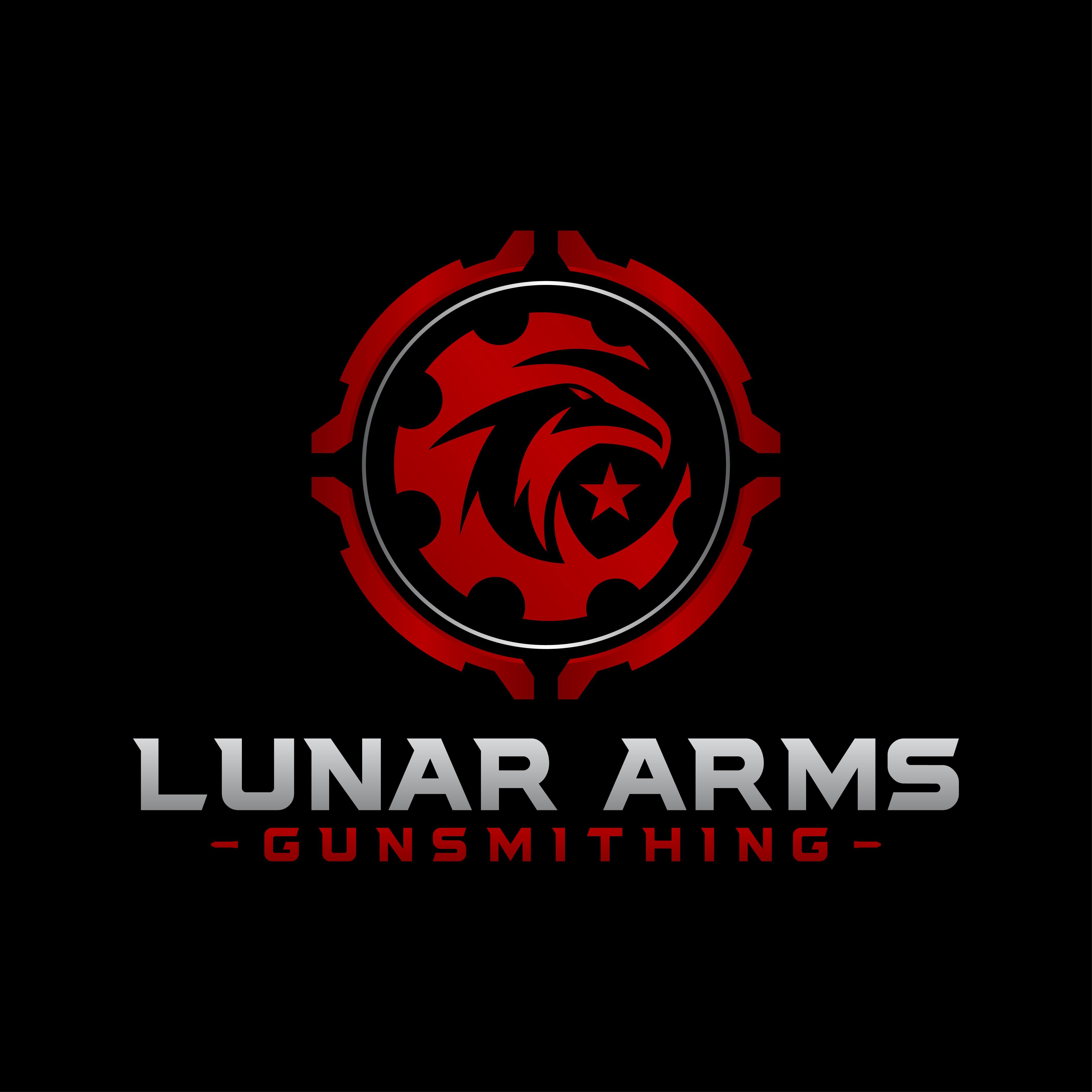 Design a modern edgy firearm logo for new gunsmith