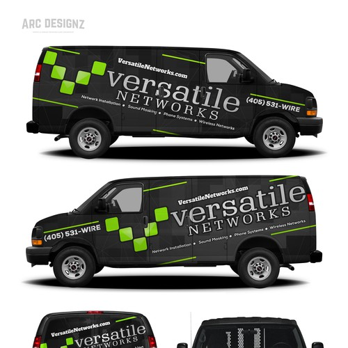 Van wrap for Versatile