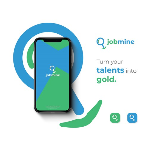 Youthful logo for jobmine.