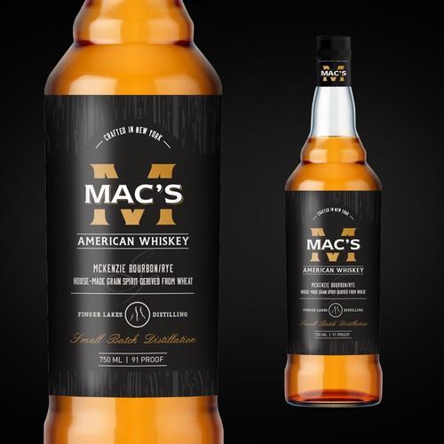 Diseño marca de whisky
