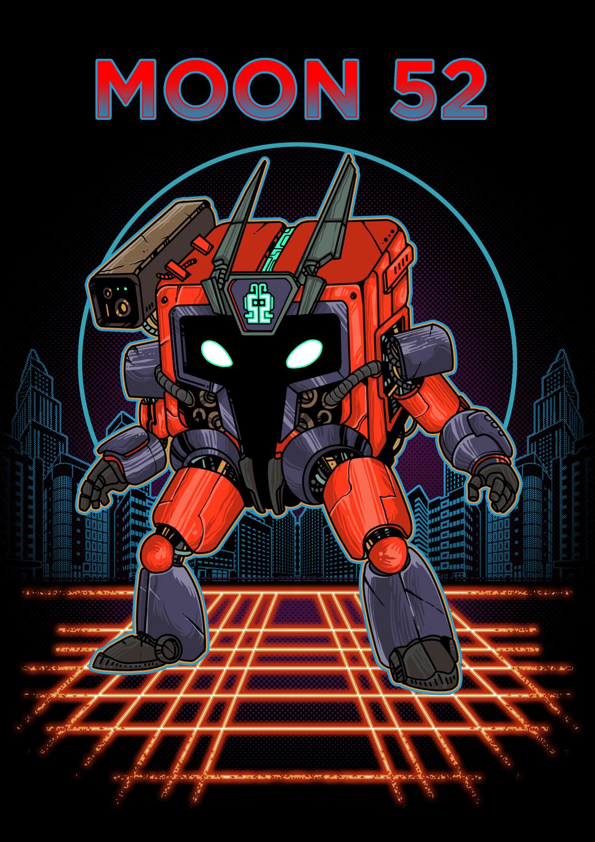 Create Robot Illustration Involving the likes of my Logo