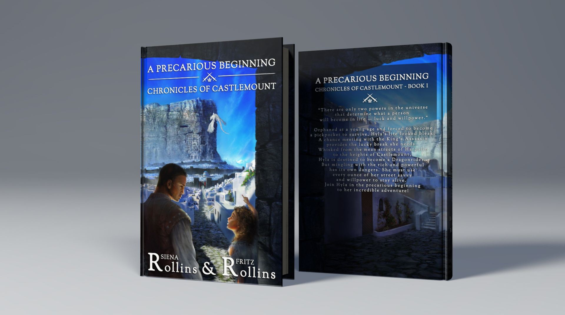 Create an inspiring book cover for a new fantasy series